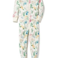 Wildflower-Print One-Piece Sleeper for Toddler & Baby | Old Navy