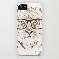The Hipster Tiger iPhone & iPod Case by Paula Belle Flores