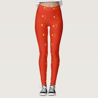 Leggings with flag of China