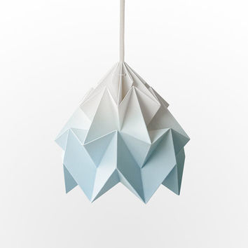 NEW: Moth origami lampshade gradient blue