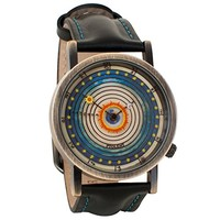 Ptolemaic Universe Model Astronomy Unisex Analog Water Resistant Novelty Gift Watch