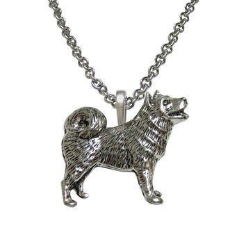 Husky Dog Pendant Necklace