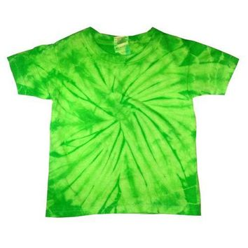 Tie Dye Spiral Kids T-Shirts Assorted Colors Sizes 2T-4T