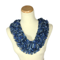 Spring Scarf, Knit Cowl,  Circle Scarf, Hand Knit Scarf, Denim Blue Infinity Scarf, Fashion Scarf, Blue Scarf,  Mothers Day, Spring Scarf,