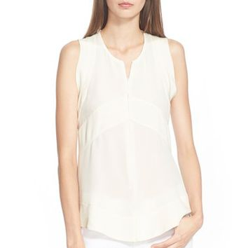 Women's IRO Zip Front Sleeveless Blouse,