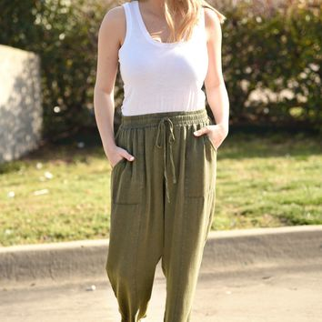 All In A Days Work Pants - Olive