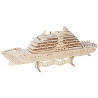 Luxury Yacht 71-pc. 3D Wooden Puzzle by Puzzled (Natural)