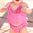 Infant & Kids Ruffled Butts Pink Sparkly Tankini