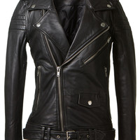 BLK DNM BLACK LEATHER JACKET