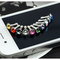 JisJass Collection - Amazon.com: Diamond Anti Dust 3.5mm Earphone Jack Plug Stopper for iPhone 4 4S Galaxy (Random Color): Cell Phones & Accessories