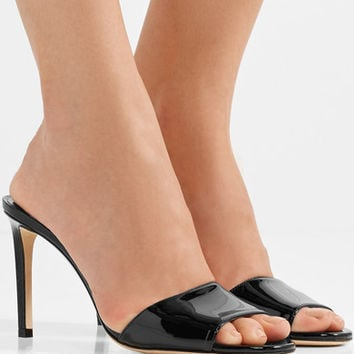 Jimmy Choo - Stacey 85 patent-leather mules