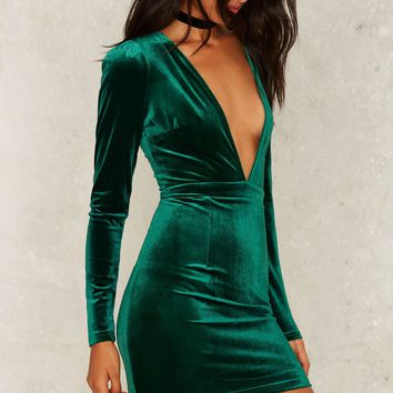 Oz Velvet Mini Dress