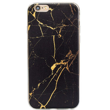 Black Gold Marble iPhone 7 7plus & iPhone se 5s & iPhone6 6s Plus Case Cover + Gift Box