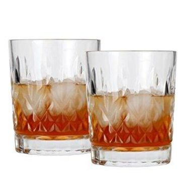 Lilys Home Old Fashioned Whiskey Glasses ideal for Whiskey Bourbon or Cocktails 11oz each Set of 2