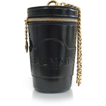 Balmain Black Mini Star Crossbody Bag