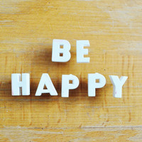 Be Happy - Vintage Ceramic Push Pins