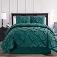 Teal Oxford Double Needle Luxury Soft Pinch Pleated