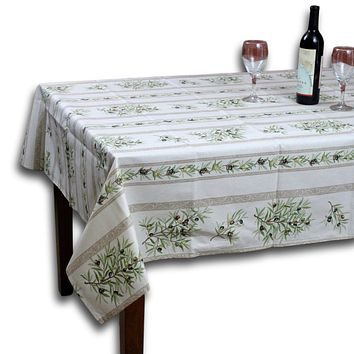 Wipeable Tablecloth 60x78 Spillproof French Acrylic Coated Clos De Oliviers