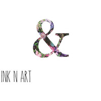 2pcs Floral ampersand tattoo - InknArt Temporary Tattoo - wrist quote tattoo body sticker fake tattoo wedding tattoo small tattoo