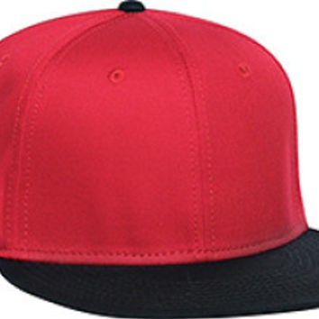 Otto Cap 125-978 - Wool Blend Snapback (Blk/Red/Red)