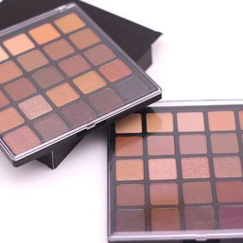 DCCKF4S 25 color copper eyeshadow palette, bronzed palette, metallic & shimmer & matter make up smoky/warm eye shadow kit