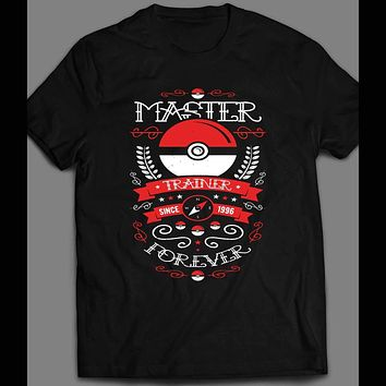 POKEMON MASTER TRAINER FOREVER TATTOO STYLE T-SHIRT