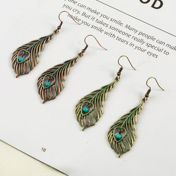 New Vintage Tassel Woman earrings Bohemia Tassel Feather Flowers Leaf Tassel earrings Long tassel earring for women