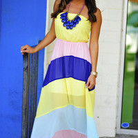 Pastel Class Maxi Dress: Multi | Hope's