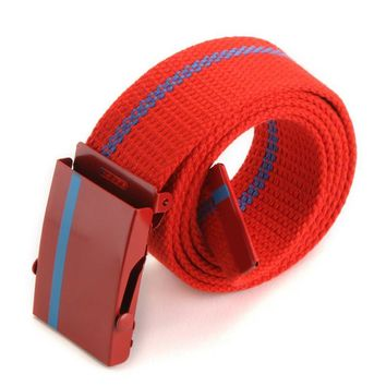 Fashion Adjustable Ladies Belt Canvas Wide Leisure Belts Unisex Joker Unisex Belt For Mens & Women