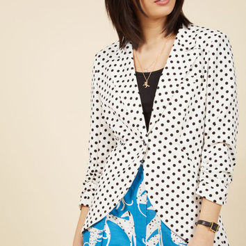 Fine and Sandy Blazer in Dotted White