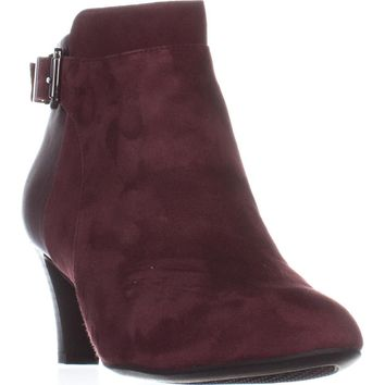 A35 Viollet Ankle Booties, Mulberry Suede, 10.5 US