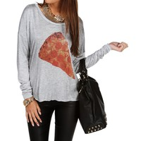 Heather Gray Pizza Top