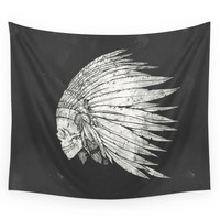 Society6 Indian Skull Wall Tapestry