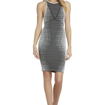 Hourglass Seamless Dress in White/Multicolor - BCBGeneration