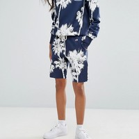 Champion Relaxed Jogger Shorts In Hawaiian Palm Print at asos.com