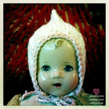 Crochet Pixie Baby Hat (Ready to Ship)