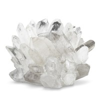 Clear Quartz Votive Holder