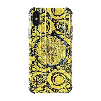 Versace New fashion human head print couple protective cover phone case