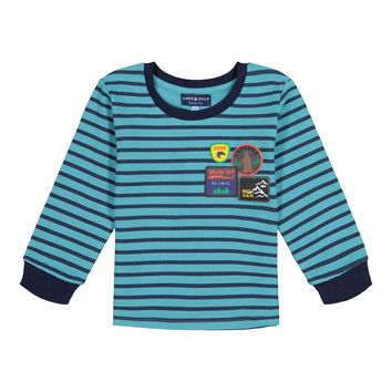 Striped Waffle Patches LS T-Shirt