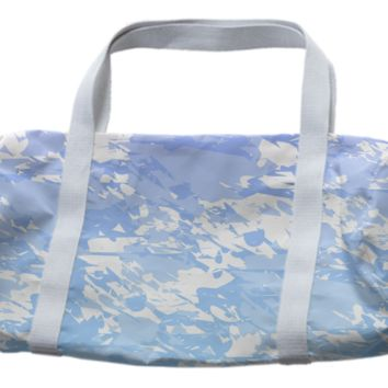 Purple Blue And White Duffle Bag created by KCavender | Print All Over Me