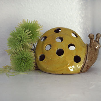 Ceramic Snail Candle Holder by mandylopandy on Etsy