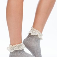 Crochet Lace Ruffle Ankle Socks