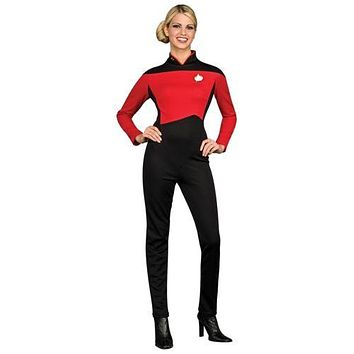 Star Trek TNG Uniform Costume Adult Womens The Next Generation Fancy Dress