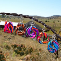 Serape Soul Hoop Earrings by Crazy Train