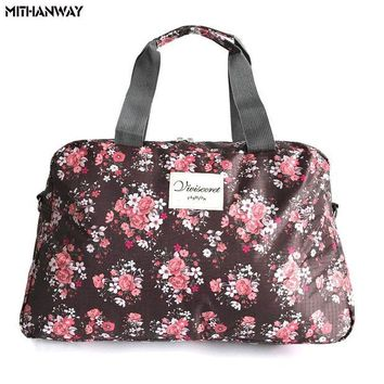 DCCKUH3 Women Lady Large Capacity Floral Duffel Totes Sport Bag Multifunction Portable Sports Travel Luggage Gym Fitness Bag 5 Colors