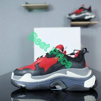 2018 Really Cheap Balenciaga Triple S Red Black 2018 New Style Authentic shoe