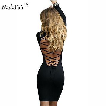 *Online Exclusive* Long Sleeve Lace Up Bodycon Dress