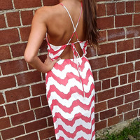 North Shore Waves Maxi in Coral