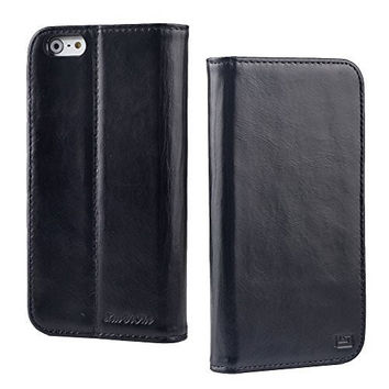 iPhone 6 Case, xinyishi Cases for iPhone 6 [ Genuine Waxy Leather ] Wallet Design with Card Slots (4.7' NEW2015)