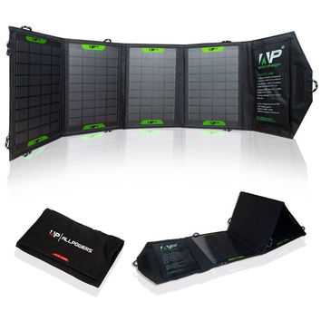 Foldable Solar Panel Battery Charger 16-Watt 5Volts USB Output